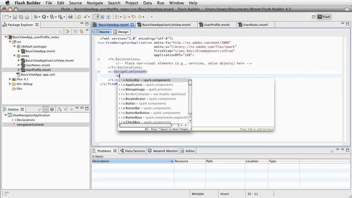FB 4.5: Basic View App – ActionBar