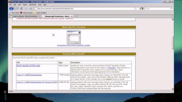 Create an iPhone Developer Certificate from Windows