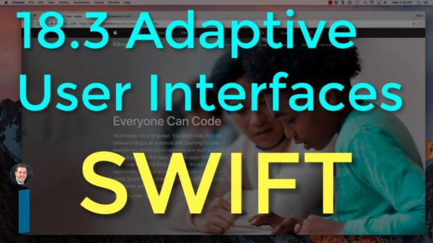 18.3 Adaptive User Interfaces – Intro to App Development with Swift